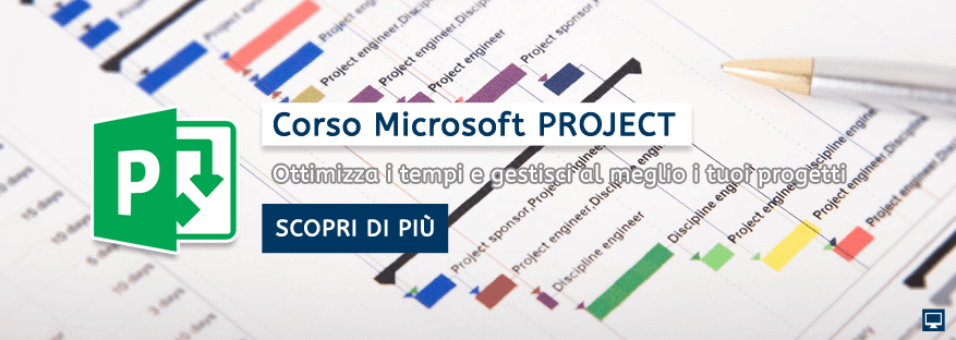 Corso Microsoft Project Base e Avanzato