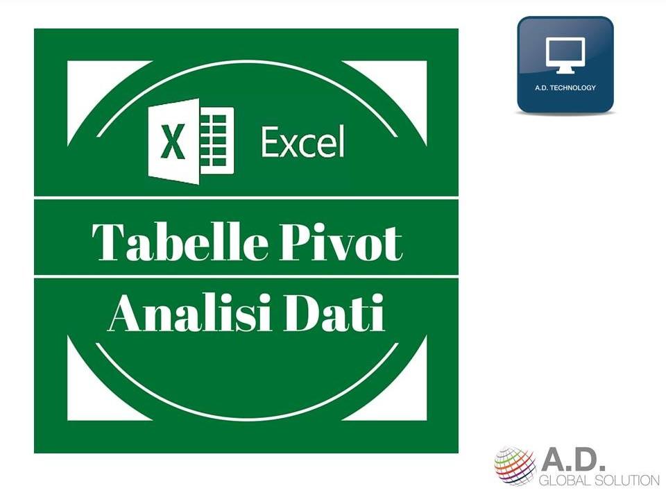 Webinar in Tabelle Pivot e Analisi Dati con Excel